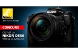 1 x aparat foto Nikon D500, 3 x troler Sunt Calator, 100 x Calendar Nikon 2016