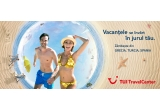 9 x voucher TUI de 100 euro, 1 x vacanta pentru 2 adulti si 2 copii in oricare din destinatiile: Turcia/ Grecia/ Spania