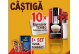 10 x espressor Tchibo Cafissimo Latte, 76 x set Twix&Tchibo