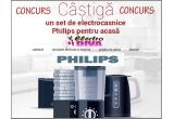 1 x set de electrocasnice Philips: cafetiera + storcator de fructe si legume + prajitor de paine + blender