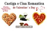 1 x cina romantica la Trattoria Piccola de Valentine's Day + sticla de Vin + cafea sau cappucino