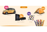 1 x masina Smart FourFor, 8 x consola playstation cu 4 joystick-uri, 100 x Cort pentru 4 persoane, 500 x joc Twistter