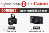 1 x Aparat foto D-SLR Canon EOS 100D negru + obiectiv EF-S 18-55mm f/3.5-5.6 Image Stabilization(IS) STM, 1 x Aparat foto compact Canon PowerShot SX610 HS negru