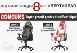 1 x Scaun gaming Vertagear SL5000 negru carbon, 1 x Scaun gaming Vertagear SL4000 alb rosu