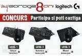 1 x Tastatura Logitech G710 + Mouse gaming Logitech G300S, 1 x Tastatura Logitech G710 + Mouse pad Logitech G640, 1 x Mouse gaming Logitech G300S + Mouse pad Logitech G640