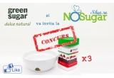 3 x set constand intr-un Indulcitor Green Sugar Pulbere + bol personalizat