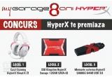 1 x Casti Gaming HyperX Cloud II 7.1 Pink, 1 x SSD Kingston HyperX Savage 120GB SATA-III 2.5 inch, 1 x Memorie externa HyperX SAVAGE 64GB USB 3.0