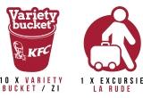 1 x Excursie la rude in valoare de 1.500 euro, 290 x Variety Bucket KFC