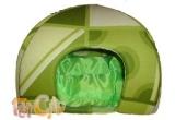 "un iglu mic si verde pentru pisoi mici si rasfatati sau pentru catei ""pisoi""<br />"