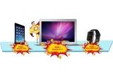 1 x laptop Apple MacBook Air, 1 x iPad Air 2, 1 x Apple Watch Sport, 20 x voucher Carrefour de 300 ron