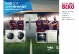 5 x kit promoțional BEKO – FC Barcelona (Minge + pix + caiet + geaca)