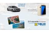 1 x masina Audi A5 Sportback, 2 x Excursie pentru doua persoane la Cannes - Franța, 10 x Smartphone Samsung Galaxy S7 Edge