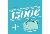 1 x experiența de shopping de 1.500 de euro + geanta Fendi, 8 x geanta stylish cu semnatura unui designer celebru