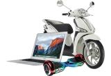 1 x scuter Piaggio Liberty S 50, 1 x laptop MacBook Air, 1 x Hoverboard Smart Balance, 6 x imprimanta Canon Pixma