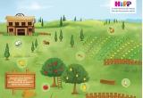 5 x petrecere pentru copii, 60 x cos cu produse HiPP + gel de dus + servetele umede + cutie pastrare servetele + joc de memorie