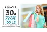 30 x voucher Kalapod in valoare de 100 lei