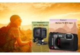 1 x aparat foto compact Olympus TG-870, 1 x camera video sport GoPro Hero Session, 1 x hard disk portabil Sony HD-SP1 1 TB