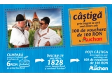 100 x voucher in valoare de 100 lei in Auchan