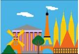 5 x voucher de calatorie de 1000 euro catre Paris/ Roma/ Barcelona/Amsterdam/ Praga/ Atena/ Lisbona + 150 euro bani de buzunar