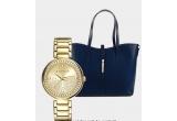 1 x Ceas auriu Esprit, 1 x Geanta albastra Mila Blu