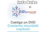 un DVD &ldquo;Cresterea imunitatii copilului -saptamana 10 &quot; oferit de Asociatia Secretul evolutiei - Dr. Ana Culcer<br />