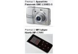 un aparat foto Panasonic DMC-LS80EG-S, un MP3 player Kinetix MP-C7095<br />