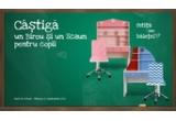1 x MARINERO Birou cu suprapozabil copii/ ANASTASIA Birou cu suprapozabil copii +  OLIMP Scaun