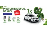 1 x masina Renault Clio 4 Life, 10 x iPad Mini 16GB 4 Apple, 10 x  iPhone 6S 16GB Apple, 10 x bicicleta adulti, 50 x incarcator ecologic
