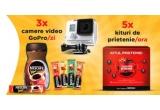 126 x camera video sport GoPro, 4.260 x kit al prieteniei: 2 cani Nescafe + 5 plicuri Nescafe Brasero + 5 plicuri Nescafe 3in1 Original