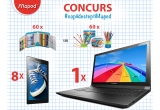 8 x tableta Lenovo A7 - 10, 1 x laptop Lenovo B51 - 80, 60 x penar echipat Maped Princess sau Viking, 60 x set de coloriaj