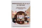 5 x Espressor Illy, 5 x set de cești de cafea, 20 x  set pahare Illy, 80 x evantai, 500 x doza Illy Caffe 250ml
