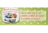 "1 x masina Fiat Tipo, 25 x pachet cu Produse fericite (2 Pui Fericit + 1 caserola x 10 Oua de la Gaini Fericite),  6 x voucher Dedeman de 1.000 lei, 3 x Voucher ""Weekend de rasfat"" Hotel 5* Sighisoara + cina romantica + masaj de relaxare"