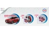 1 x masina Fiat Tipo, 150 x aparat Nescafé Dolce Gusto Piccolo + 3 napolitane JOE XXL, 2100 x 3 napolitane JOE XXL