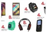 4 x Televizor LED HD Horizon, 8 x Smartphone 3G Cubot Rainbow, 4 x Smartwach MT851G, 4 x Smartwatch MT849, 4 x Telefon dual SIM, 8 x Pereche Casti Media Tech, 4 x boxe BT FM Media-Tech, 28 x Baterie Externa- telefon Jupio