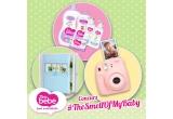 4 x 3 seturi de produse Teo bebe + album foto hand-made, 1 x aparat foto Fujifilm Instax Mini 8