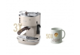3 x cafetiera de espresso De'Longhi Icona Vintage, 50 x cana personalizata