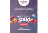 1 x voucher de 500 ron pentru bilete la Cinema City, 1 x voucher Zvon Cafe de 500 ron, 1 x voucher Geta Voinea Salon de 500 ron, 1 x 1500 ron pentru produse din Sun Plaza