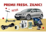 1 x mașina Volkswagen Golf, 2 x scuter electric Smart Balance, 2 x consola Microsoft Xbox One, 30 x voucher Kaufland in valoare de 500 de lei, 2 x voucher de 1.000 lei pentru achiziții pe site-ul activitati-cadou.ro, 1 x laptop 2 in 1 Lenovo Yoga 500, 2 x televizor LED Smart LG 100 cm 40UH630V 4K Ultra HD + telecomanda LG Magic Motion AN-MR650, 2 x camera video GoPro Hero 4 Full HD Silver Edition, 2 x ceas Apple Watch, 2 x robot de bucatarie Kenwood Prospero KM245, 2 x trotineta electrica EightyEight Powerocks S1 + car kit bluetooth A+ BCKL1 multipoint, 2 x iPhone 7 128GB Rose Gold, 1 x excursie catre orice destinație pentru 2 persoane in valoare de maxim 6.000 de lei