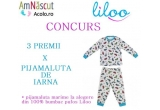 3 x Pijamaluta de iarna din 100% bumbac pufos Liloo (marimi la alegere 1-10 ani)