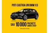 1 x mașina BMW X3, 10.000 x pachet cafea Amigo 250g