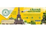 30 x excursie intr-o capitala europeana pentru 4 persoane, 300 x excursie la Cotnari petru 4 persoane, 3.000 x sticla cu vin de vinoteca Cotnari din productia anului 1989
