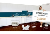 1 x voucher Mobexpert de 2.500 euro, 8 x mașina de spalat vase Beko + cos cu produse Gourmet, 58 x mașina de facut paine Tefal + culcus pentru pisica ta, 1.392 x ustensile de bucatarie + bol pentru hrana pisicii