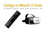 1 x MP3 Player Sony, 1 x pereche de ochelari VR