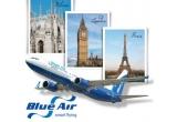 2 bilete de avion dus-intors la Paris, Londra sau Milano oferite de BlueAir<br />