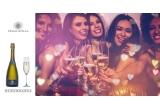 4 x sticla de vin spumant Budureasca Prima Stilla + cutie de lemn cu 4 sticle de vin premium de la Budureasca
