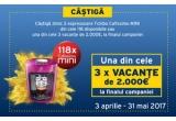 70 x espressor Tchibo Cafissimo Mini, 3 x Voucher de vacanta de 2000Euro