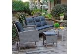 1 x set de mobilier gradina Fira (2 fotolii + 2 taburete + canapea + masuta)