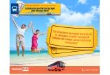 1 x 2 bilete dus-intors catre o cursa directa spre litoralul romanesc, pe una din rutele existente in grila MementoBUS