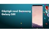 1 x telefon Samsung Galaxy S8, 1 x 2 baxuri de bere URSUS, 1 x bax de bere URSUS