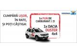 1 x masina Dacia Duster 4x4, 68 x plin de carburant